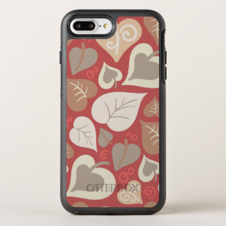 beautiful red love hearts leaves OtterBox symmetry iPhone 8 plus/7 plus case