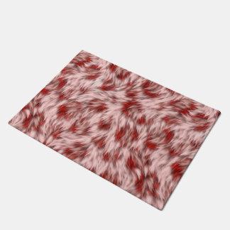 Beautiful Red & Pink Abstract Design Bath Mat