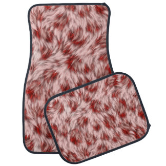 Beautiful Red & Pink Abstract Design Car Mats