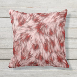 Beautiful Red & Pink Abstract Design Square Pillow
