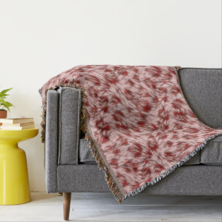 Beautiful Red & Pink Abstract Design Throw Blanket
