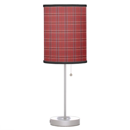 Beautiful Red Plaid Pattern Table Lamp