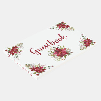 Beautiful Red Poinsettias Guestbook
