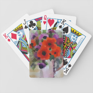 Beautiful Red Poppies Bicycle Playing Cards