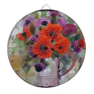 Beautiful Red Poppies Dartboard