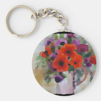 Beautiful Red Poppies Keychain