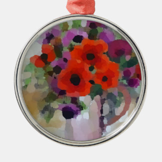 Beautiful Red Poppies Metal Ornament