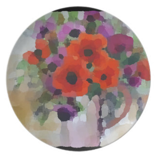 Beautiful Red Poppies Plate