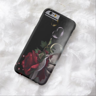 Beautiful Red Rose and Hearts iPhone 6 Case