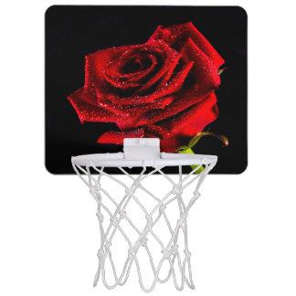 Beautiful red rose mini basketball hoop
