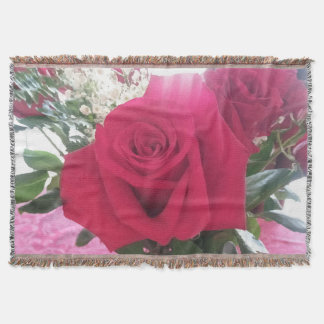 Beautiful Red Rose Picture Throw Blanket