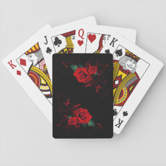 Beautiful Red Rose Playing Cards