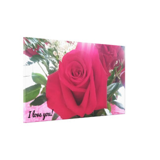 Beautiful Red Rose Romantic Canvas Print
