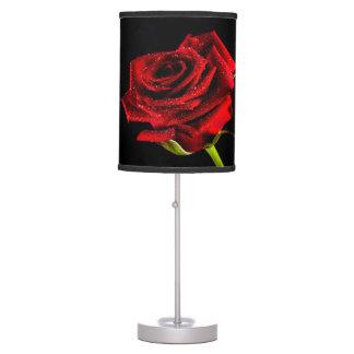 Beautiful red rose table lamp