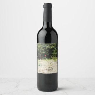 Beautiful Red Rose Wine Label