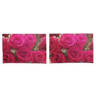 Beautiful Red Roses Print Pillow Cases