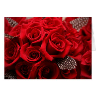 Beautiful Red Roses Valentine's Day Card