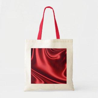 Beautiful Red Satin Budget Tote Bag