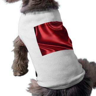 Beautiful Red Satin Dog T Shirt