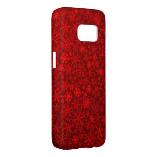 beautiful red snowflake samsung galaxy s7 case