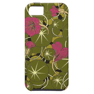 Beautiful Red WaterLily Pattern iPhone 5/5s Case