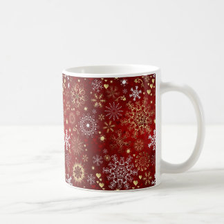 Beautiful Red, White and Golden Christmas Coffee Mug