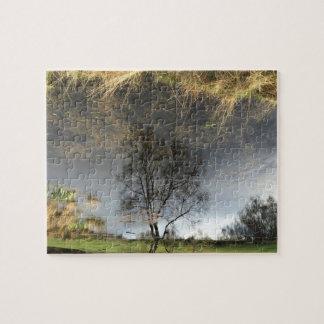 Beautiful Reflection Photography Tree Jigsaw Puzzle