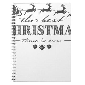 beautiful reindeer christmas notebook
