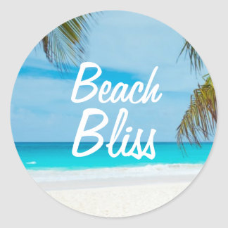 Beautiful Relaxing Beach Bliss Classic Round Sticker