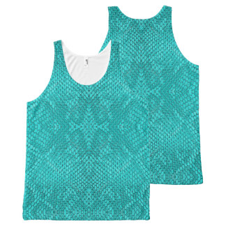 Beautiful Reptile turquoise snake All-Over Tank