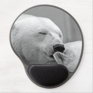 Beautiful resting polar bear gel mouse pad