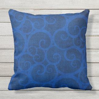 BEAUTIFUL RETRO BLUE VINES throw cushion