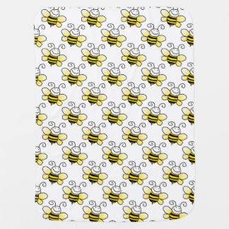 Beautiful Retro Bumble Bee Custom Baby Blanket