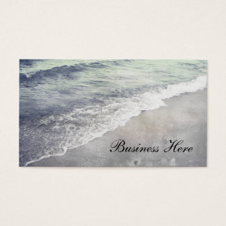 Beautiful Retro Lake Michigan Shoreline Business Business Card