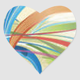 Beautiful ribbon party design heart sticker