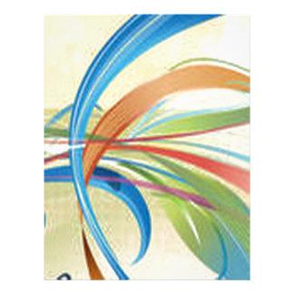 Beautiful ribbon party design letterhead design