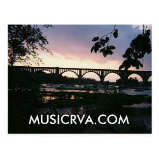BEAUTIFUL RICHMOND VIRGINIA SUNSET POSTCARD