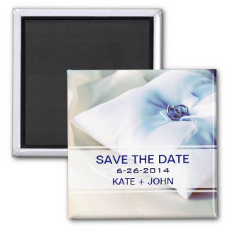 Beautiful Ring Pillow Wedding Square Magnet
