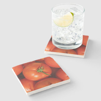 Beautiful Ripe Homegrown Tomatoes Stone Coaster