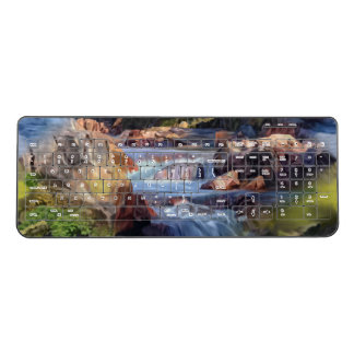 Beautiful River Scene Wireless Keyboard