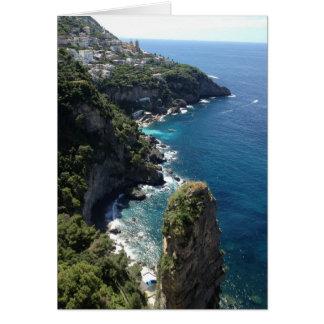 Beautiful, Romantic Amalfi Coastline, Italy Card