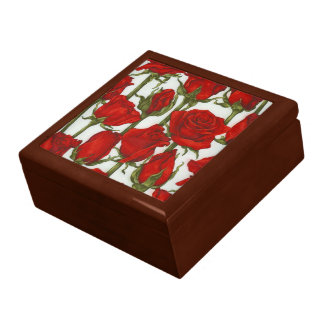 Beautiful Romantic  Red Roses Giftbox , Jewelry Boxes