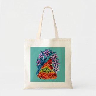 Beautiful Rooster Watercolour Budget Tote Bag
