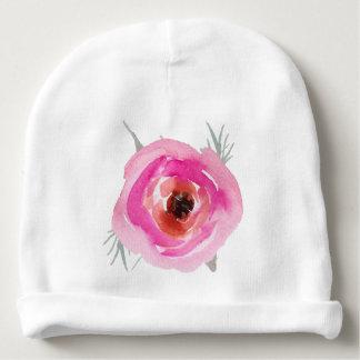 Beautiful rose baby beanie