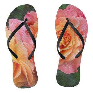 Beautiful Rose Flip Flops