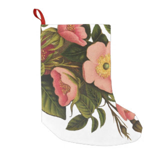 Beautiful Rose Flower Art Pretty Bold Small Christmas Stocking