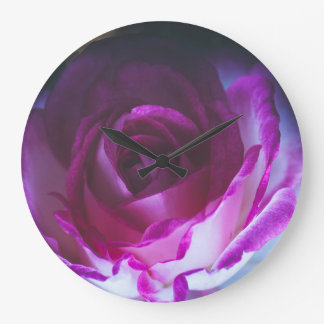 Beautiful rose flower large clock