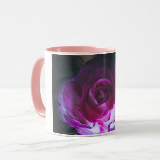 Beautiful rose flower mug