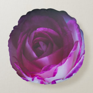 Beautiful rose flower round pillow