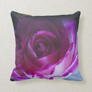 Beautiful rose flower throw pillow
